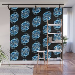 Orca Pattern Wall Mural