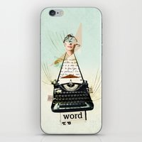 word iPhone & iPod Skins featuring Word by zando & jot
