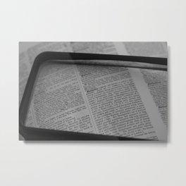 Meta Metal Print