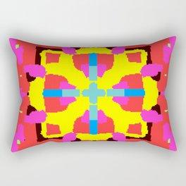 Key Lime Geometric Fuzzy Floral Rectangular Pillow