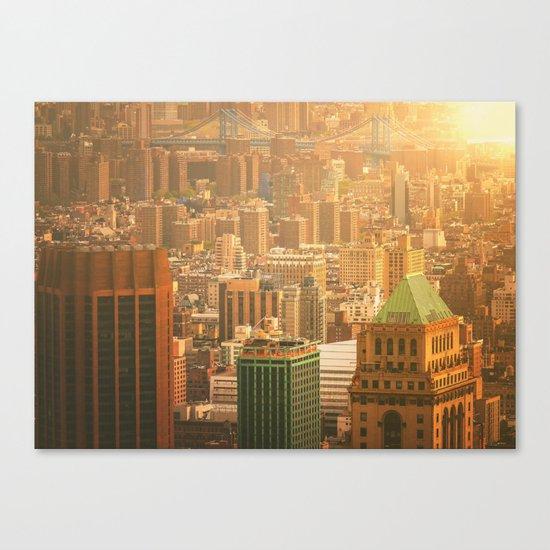 New York City Skyline Rooftops Canvas Print