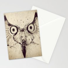 Deconstructed Owl Face Stationery Cards