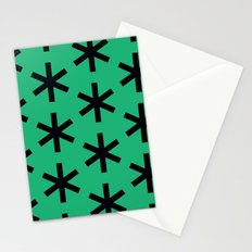 Vondel Black on Green Pattern Stationery Cards