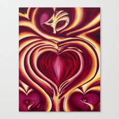 4 of hearts Canvas Print