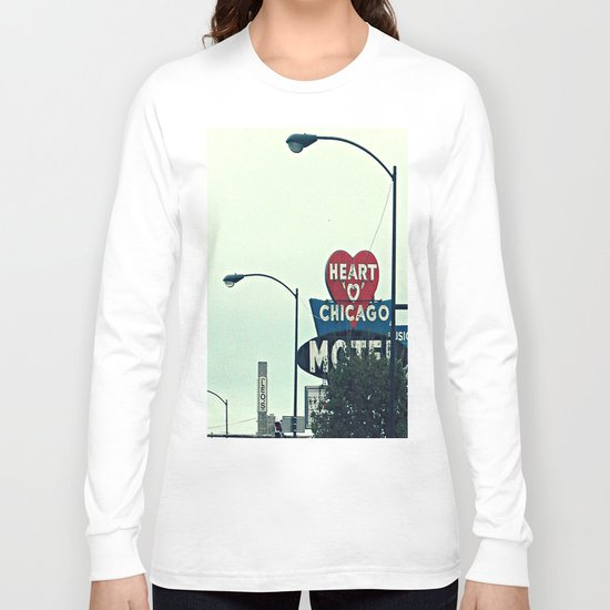 Heart 'O' Chicago Motel (Day) ~ vintage neon sign Long Sleeve T-shirt