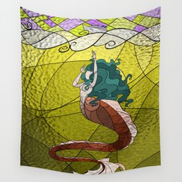 Primeval Mermaid (yellow) Wall Tapestry