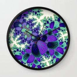 Leafy Nosegay Fractal Wall Clock