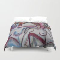 friendship Duvet Covers featuring FRIENDSHIP by Loosso