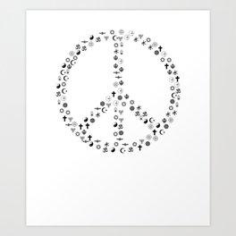 Sign of Peace, Unitarian Universalist Gift Art Print