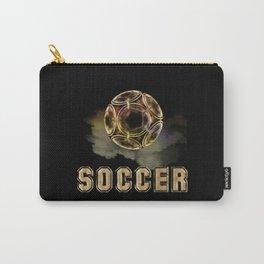 Golden Soccer Ball Carry-All Pouch