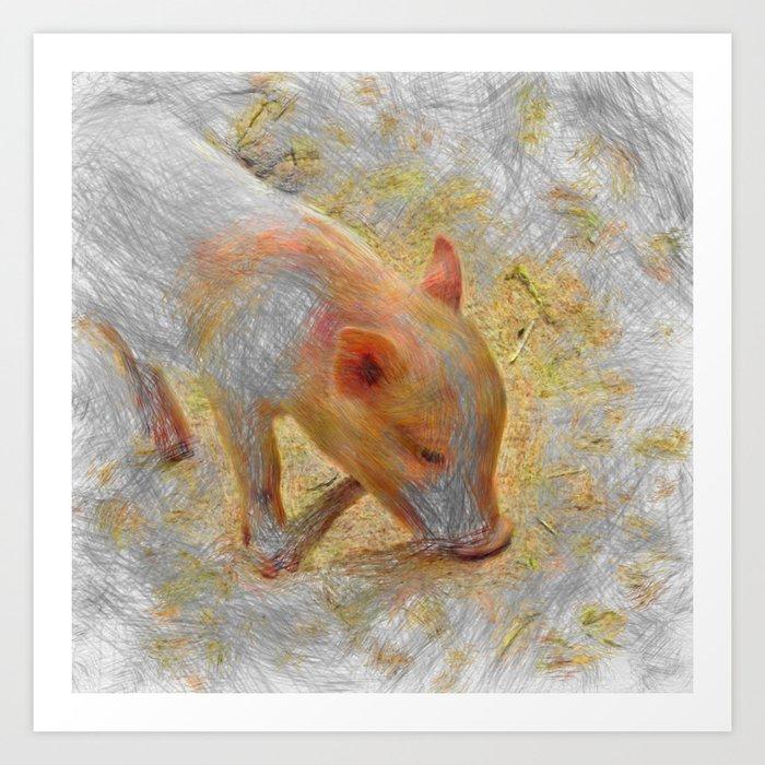 Artistic Animal Piglet Kunstdrucke