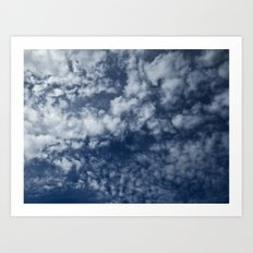 Summer sky Over England Art Print