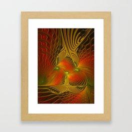 Mysterious and Luminous, Abstract Fractal Art Framed Art Print