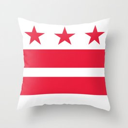 Flag of the District of Columbia - Washington D.C authentic version Throw Pillow