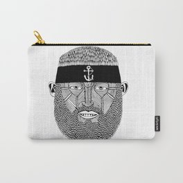 The One Armed Sushi Chef (Bearded Man Wearing Anchor Headband) Carry-All Pouch