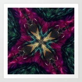 Girls Night Out Feather Boa Kaleidoscope Art Print