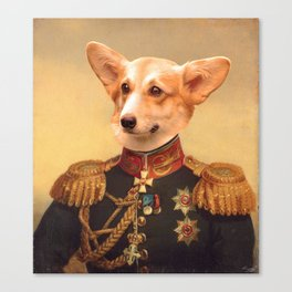 Corgi General Portrait Painting   Corgi Lovers! Canvas Print