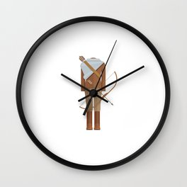 District Fighting Sci-Fi Film Costume Minimal Sticker Wall Clock