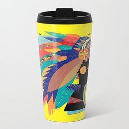 Native Indian Metal Travel Mug