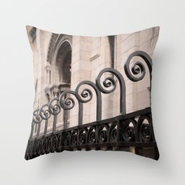 Sacre Coeur Rounded Railing Detail Throw Pillow