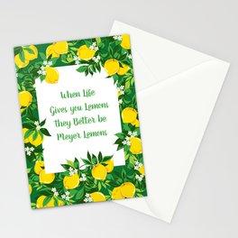 When Life Gives you Lemons, Meyer Lemons Stationery Cards