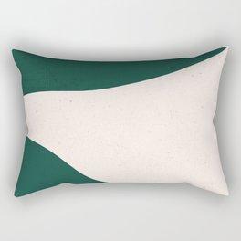 Emerald green abstract art Rectangular Pillow
