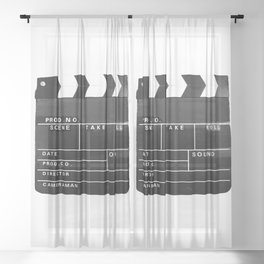 Film Movie Video production Clapper board Sheer Curtain