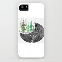 Our fingerprint on earth iPhone Case