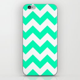 Mint Chevron iPhone Skin