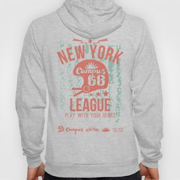 The emblem of the rugby team from New York in retro style Hoody