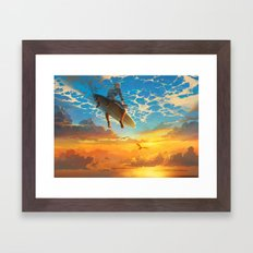 Beautiful world Framed Art Print