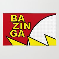bazinga Area & Throw Rugs featuring Bazinga by Bazingfy