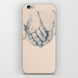 this is your hand, these are my hands, this is the world. iPhone Skin