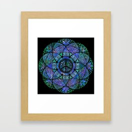 Love, Peace and Happiness Framed Art Print
