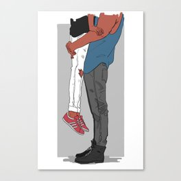 Tall and Small Canvas Print