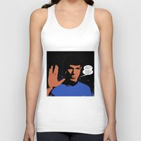 spock Tank Tops featuring Mr. Spock by mrsaad27