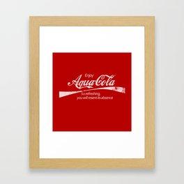 Enjoy Aqua-Cola! Framed Art Print