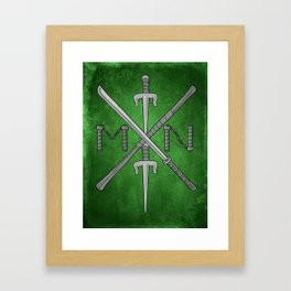 Weapons Down - TMNT Framed Art Print