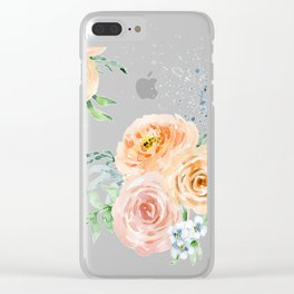 Pastel Floral Pattern 01 Clear iPhone Case