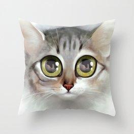 Kitten 4 Throw Pillow