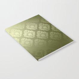 """""""Olive Damask Pattern"""" Notebook"""