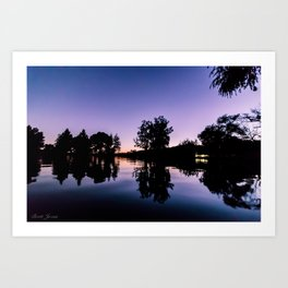 LAKE NIGHT Art Print
