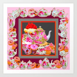 AFTERNOON TEA PARTY  & PASTRY  DESSERTS Art Print