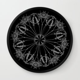 Flower Lace Wall Clock