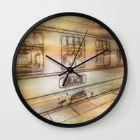 grace Wall Clocks featuring Grace. by Heather Goodwin