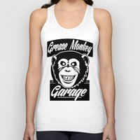 grease Tank Tops featuring Grease Monkey Garage by Broenner