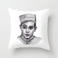 pee wee Throw Pillows featuring Pee-Wee Herman by jamestomgray