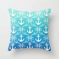 Nautical Knots Ombre Throw Pillow