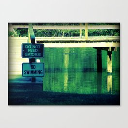 don't feed the gators! Canvas Print