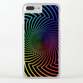 Happy Rainbow Trails Clear iPhone Case